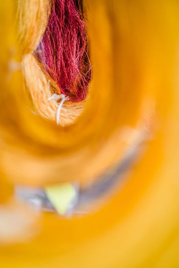 silk Thailand Close-up Creativity Multi Colored Orange Color Redhead Selective Focus Softness Yellow