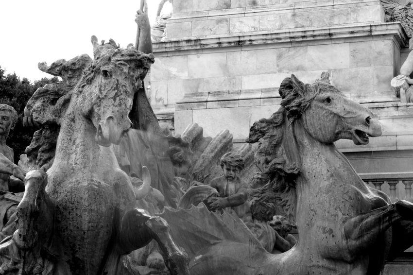 Black & White Bordeaux Bordeaux, France Girondins De Bordeaux Horses Quinconces Architecture Art Black&white Blackandwhite Blackandwhite Photography Building Exterior Built Structure Day No People Outdoors Sculpture Sky Statue Statues