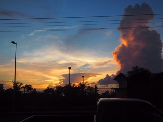 Lookback on my Sweetmemories of Lastsummer . I went to Guam and saw a lot of Beautiful Landscape . I'll post on Onebyone . Clouds And Sky Fantastic Sunset Scenery Fromwindow Bus Nofilter No.1