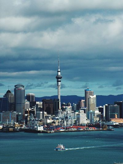 Auckland New Zealand - Cityview From  Devonport - Travel Skyscraper Sky Tower Harbour First Eyeem Photo Scenic Landscape City Transportation EyeEm Best Shots Eye4photography  EyeEm Gallery Sky