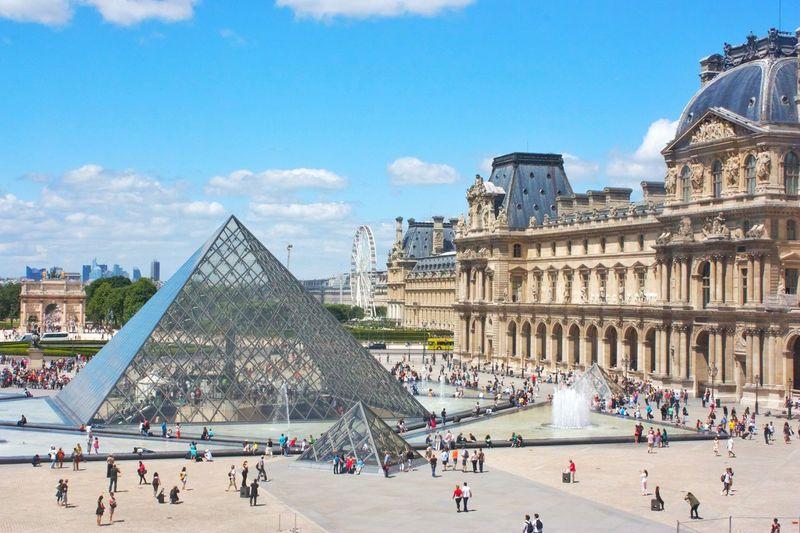 Paris Louvre Louvre Pyramid Louvremuseum Travel Destinations Louvre Museum Architecture Tourism