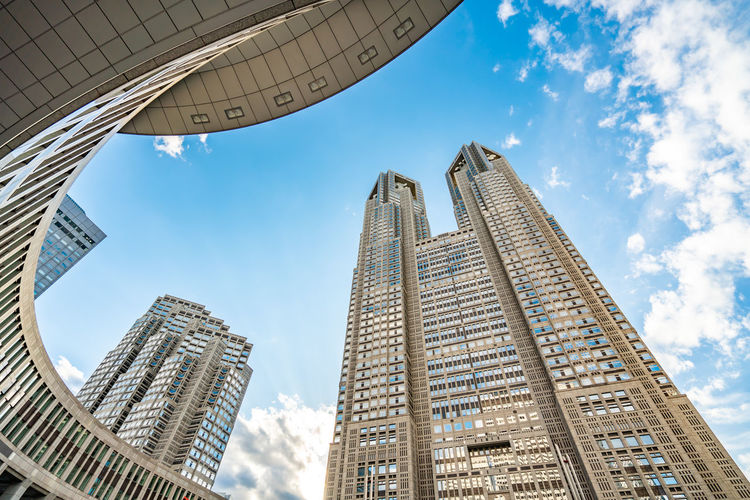 Architecture Building Exterior Built Structure City Sky Low Angle View Building Tall - High Office Building Exterior Skyscraper Tower Office Cloud - Sky Day Modern No People Nature Outdoors Travel Destinations Glass - Material Financial District  Spire