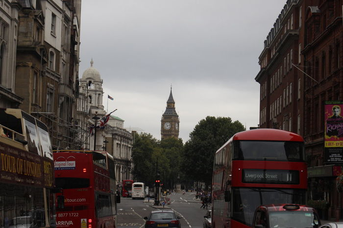 Cars London Bigben Building Building Exterior Buss City Day Londonbus Street Transportation
