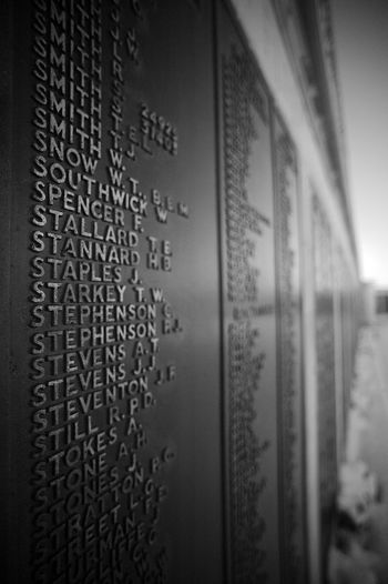 Not Forgotten No People Text Close-up Communication Information Education Message War Memorial Blackandwhite Black And White Black & White