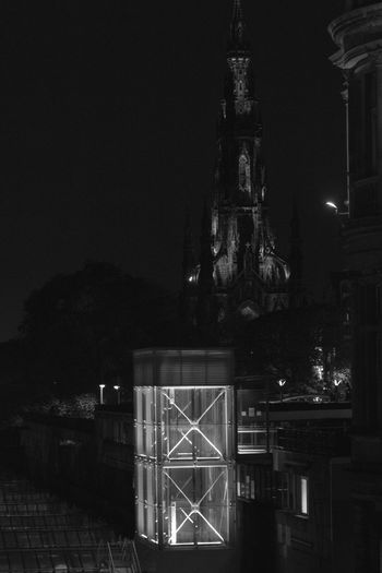 No People Sky Night Edinburgh Scott Monument Nightphotography Blackandwhite Blackandwhite Photography