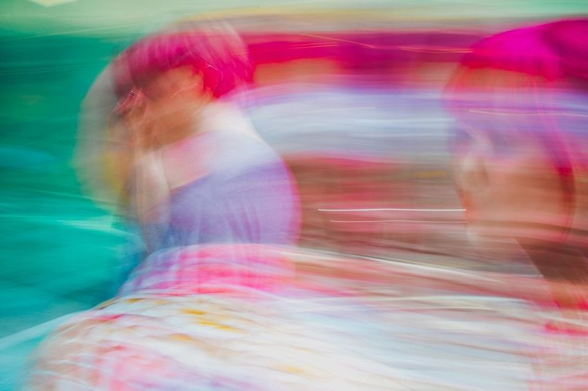 OSAKA Japan Experimental Streetphotography Blurred Motion Multi Colored Real People Abstract