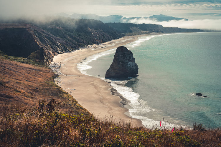 Oregon coast seascapes near cape blanco lighthouse