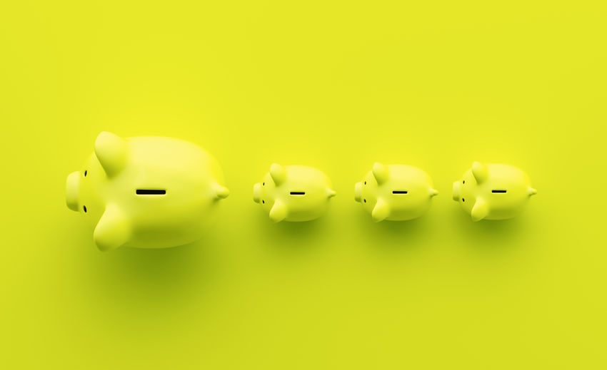 piggy bank as coin bank top view shot, investment and development concept Yellow Background Yellow Wealth Top View Success Studio Shot Still Life Security Savings Save Safe Rich Retirement Representation Rate Prosperity Profit Pink Piggybank Piggy Bank Piggy Pig Overweight No People Nature Money Making Money Kids Investment Invest Indoors  Individuality In A Row Idea Growth Growing Green Color Green Fund Follow Financial Finance Family Economy Directly Above Deposit Cut Out Currency Copy Space Concept Colored Background Coin Bank Coin Close-up Cash Business Bigger Beauty Banking Bank Account Bank Animal Representation Account Above
