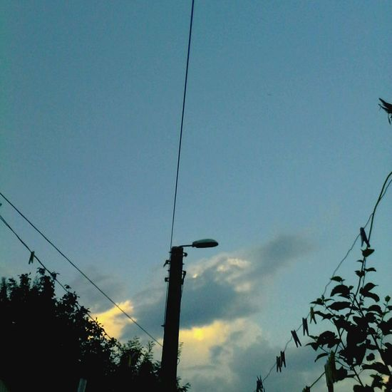 Edited By @wolfzuachis @wolfzuachis Wolfzuachis Ionitaveronica Eyeem Market Cloud - Sky Showcase: 2016 Showcase: October Sky Outdoors Cable Low Angle View Power Line  Silhouette Street Light Tree Pole Power Cable Scenics Blue High Section Nature No People Sky Day Welcome To Black