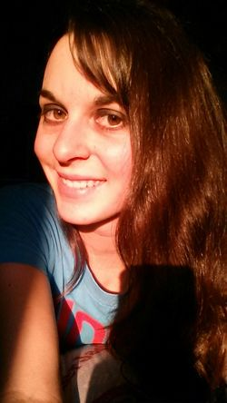 Selfie Smile Brunette Brown Eyes