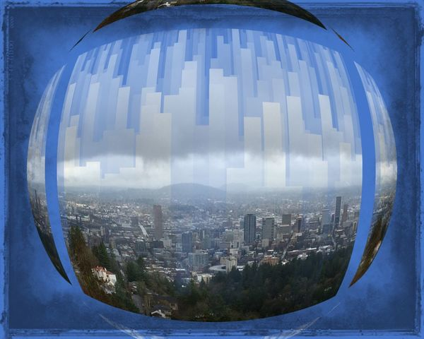 Cityscape PNW Portland Pacific Northwest  Viewofthecity Digital Art