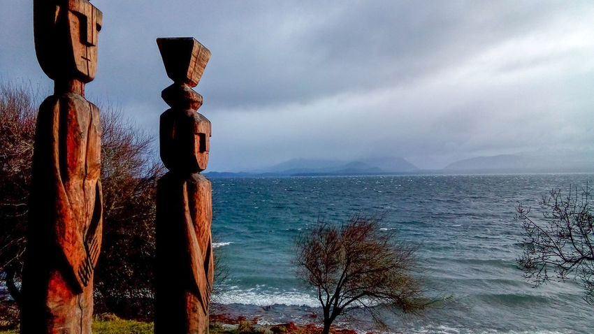 Sea Horizon Over Water Water Tranquility Sky Nature Beach No People Scenics Beauty In Nature Outdoors Wave Day Close-up Lake Lake View Lago NahuelHuapi Bariloche Argentina Nature Natureza Totem Estatua Agua Place Of Heart The Great Outdoors - 2017 EyeEm Awards Shades Of Winter