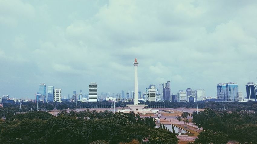 Tugu Monas Urban Geometry Vscocam How's The Weather Today? From The Rooftop