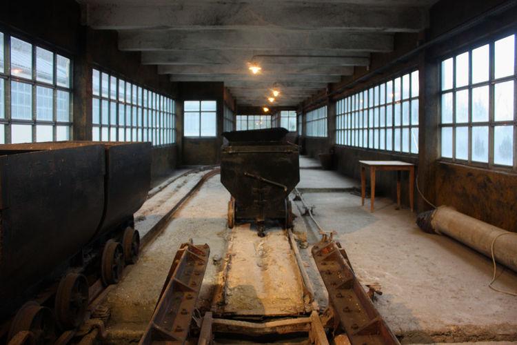 Interior of abandoned coal mine