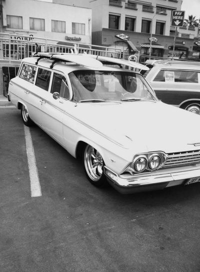 Car Transportation Outdoors No People City Day Surf Photography Vintage Cars Classic Cars Stationwagon Old School Beach Cruiser California Dreaming California Love California