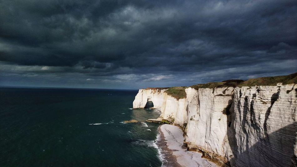 Normandy. Sea Cloud - Sky Sky Nature Water Outdoors Beauty In Nature étretat Etretat Cliffs