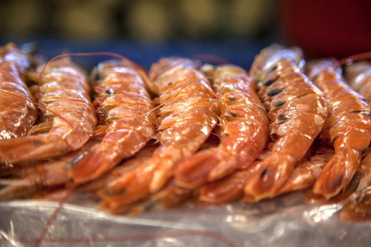 Shrimps At Market For Sale
