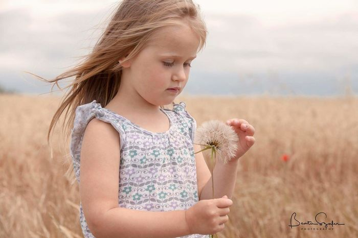 My love, my life, my everything Child Nature Outdoors Rural Scene Flower Dandelion Dandelionfluff Dandelion Seeds Field Field And Sky Outdorphotography