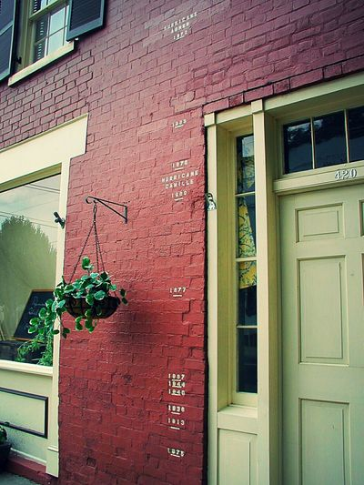 Flood Line Wall Floodlines Flood Flooding Floods Flood Line Hurricane Hurricaneagnes Storm Storms Weather Meteorology Agnes Brick Wall Brick Window Reflection Architecture No People SC Textures And Surfaces Historic Building Exterior Outdoors South Bricks
