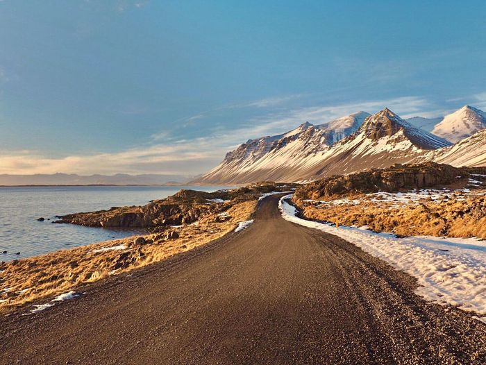 Road to nowhere Landscape Scenics Sky Road Outdoors Nature Sand Beauty In Nature Tranquility The Way Forward Cloud - Sky No People Mountain Sea Winding Road Close-up Mountains Eye4photography  Iceland First Eyeem Photo EyeEm Gallery Iceland_collection Eye4photography  EyeEm Best Shots The Great Outdoors - 2017 EyeEm Awards My Best Photo
