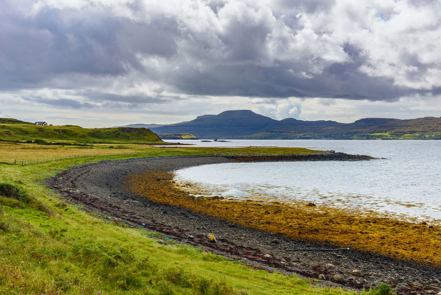 Coral Beach, Isle Of Skye Scotland Beauty In Nature Cloud - Sky Day Grass Landscape Nature No People Outdoors Scenics Sea Sky Tranquil Scene Tranquility Water