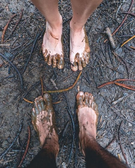 One with 🌏 Low Section Human Leg Human Body Part Human Foot Barefoot Standing High Angle View Sand Beach Mud Day One Person Outdoors Lifestyles Adult Vacations Men Real People Close-up Oil Spill Muddy Trail Muddy Feet The Great Outdoors - 2017 EyeEm Awards The Photojournalist - 2017 EyeEm Awards
