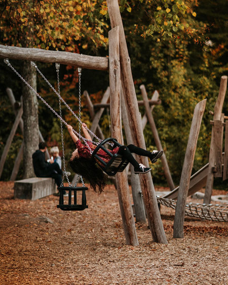Tree Wood - Material Day Nature Plant Land Focus On Foreground Outdoors Forest Playground Protection Hanging Leisure Activity No People Rope Field Security Metal Boundary Swing
