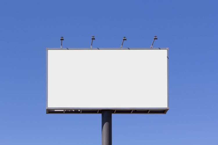Blank advertisement mock up in the street Billboard Blank Advertising Mock Up Mock Up Mockup Blue Outdoor Sky Branding Background Advertisement Space Communication White Banner Promotion Clear Media Marketing Commercial Empty Board Sign City Bill Outside Poster Message Panel Ad Information Large Signpost Metallic Focus Light Metal Announcement Frontal Front Street Advertising Branding