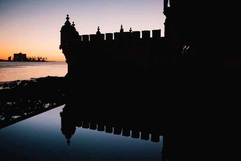 Belém Drone  Torre De Belém Travel Architecture Beauty In Nature Belem Tower Building Exterior Built Structure City Day Drohne Dronephotography Droneshot Lisboa Lisbon Lissabon Luftaufnahme Nature Nautical Vessel No People Outdoors Reflection Sea Silhouette Sky Sunset Tourism Travel Destinations Water