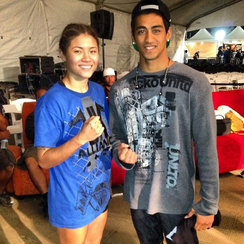 Haley Pasion Oahu's Finest Boxer... And Me Maui's Up Coming Boxer Ginna Be Famous