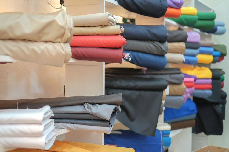 Close-Up Of Clothes In Store
