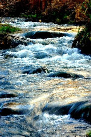river Slow Shutter Flowing Water Water Reflections Water Surface Velvet Water Day