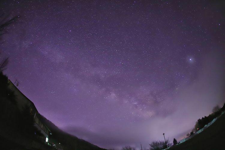 もうすぐ新月🌑出歩きたい夜😆 Nature Nature Photography 銀河鉄道の夜♪ Astronomy Galaxy Space Milky Way Star - Space Constellation Mountain Purple Space And Astronomy Sky