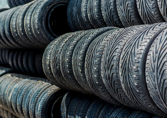 Old tires background In A Row Tires Transportation Tread Wheel Auto Black Close-up No People Nobody Old Row Rubber Stacked Tire Tyre Tyres Used Wheels