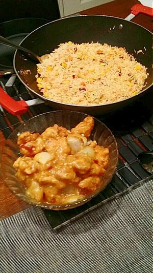 First Eyeem Photo Traditionalfood Asian Culture Chinesefood Lahore Food Street Chinese Rice And Orange Chicken