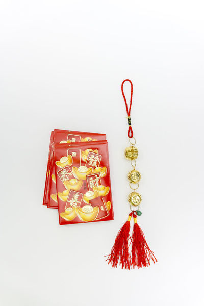 Angpao #HappyChineseNewYear #GongXiFaCai Angpow China Chinese Chinese Culture Chinese New Year Close-up Cultures Day Festival Hanging No People Red Studio Shot White Background