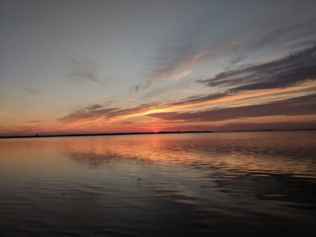 sunrise Sunset Sea Water Reflection Seascape Horizon Over Water Dramatic Sky Orange Color Cloud - Sky Outdoors Sun
