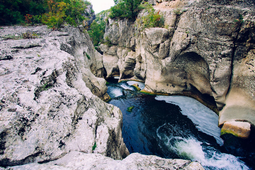 Beauty In Nature Flowing Water Geology Outdoors River Rock - Object Rocks Tourism Tranquil Scene Travel Traveling Water Waterfall