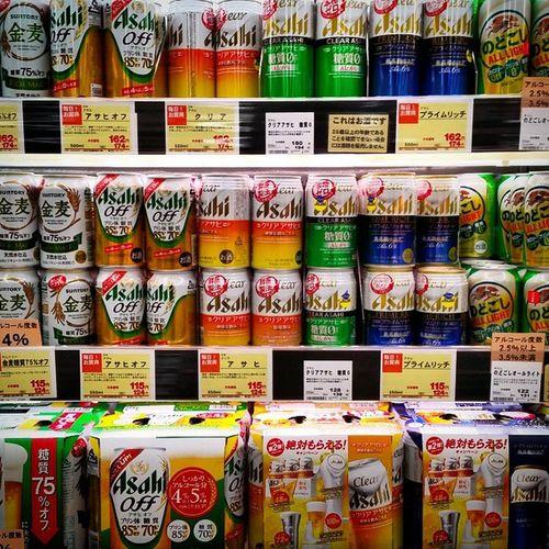 Japan Beer 強迫症 Supermarket Asahibeer Can Drinks Beverage