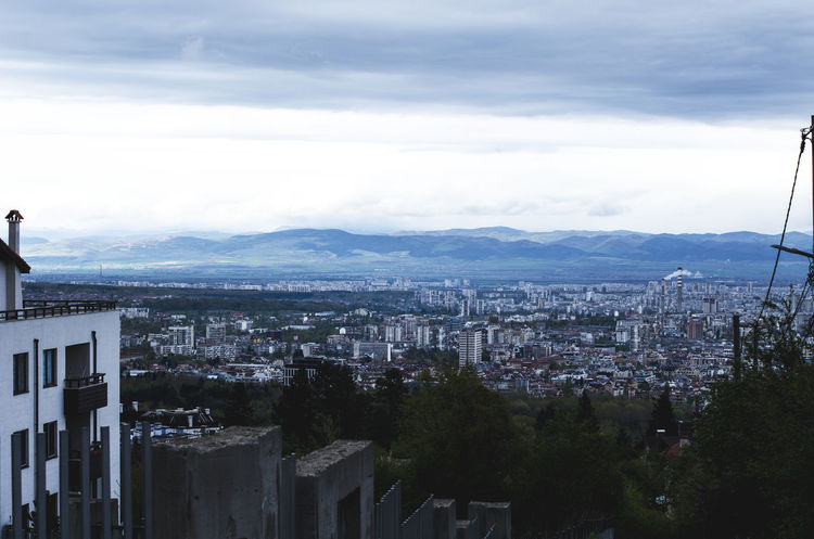 A view to Sofia city from Vitosha mountain. Architecture Bank Blue Building Building Exterior Built Structure City City View  Cityscape Clouds And Sky Cloudscape Cloudy Community Day High Angle View Mountain Nature No People Outdoors Panorama Panoramic Residential Building Sky Sofia, Bulgaria View