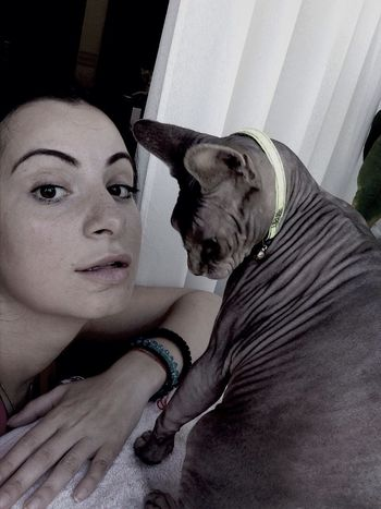 My Cat Tayson ? Love ♥ Sphynx Cat Happy :)