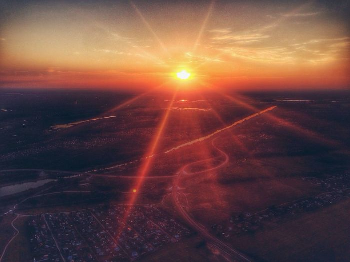 Sunset Silhouettes Sunset #sun #clouds #skylovers #sky #nature #beautifulinnature #naturalbeauty #photography #landscape Flying