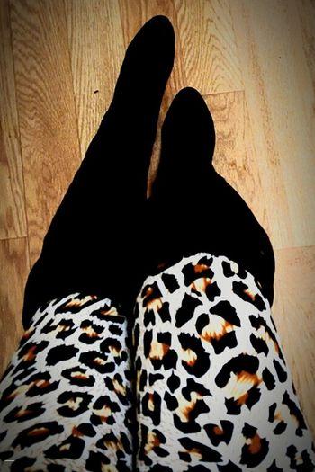 Leapardprint Legs Boots❤ Blackboots<3