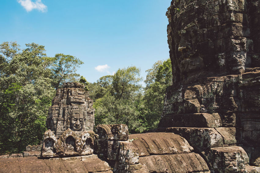Siem Reap Cambodia Angkor Angkor Wat Angkor Wat, Cambodia History The Past Ancient Architecture Belief Sky Religion Built Structure Place Of Worship Art And Craft Nature Spirituality Travel No People Tree Day Travel Destinations Plant Solid Ancient Civilization Outdoors Archaeology Ruined