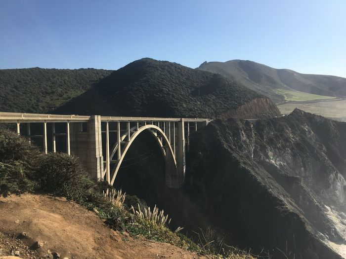 Mountain Nature Beauty In Nature Bridge - Man Made Structure Built Structure Day Clear Sky Outdoors No People Scenics Architecture Mountain Range Arch Connection Sky