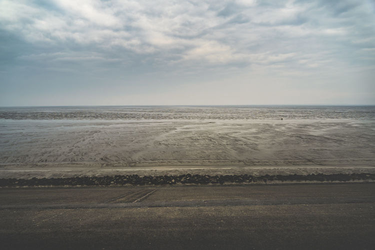 Arid Climate Beach Beauty In Nature Cloud - Sky Day Environment Horizon Horizon Over Water Idyllic Land Landscape Nature No People Non-urban Scene Outdoors Remote Salt Flat Scenics - Nature Sea Sky Tranquil Scene Tranquility Water