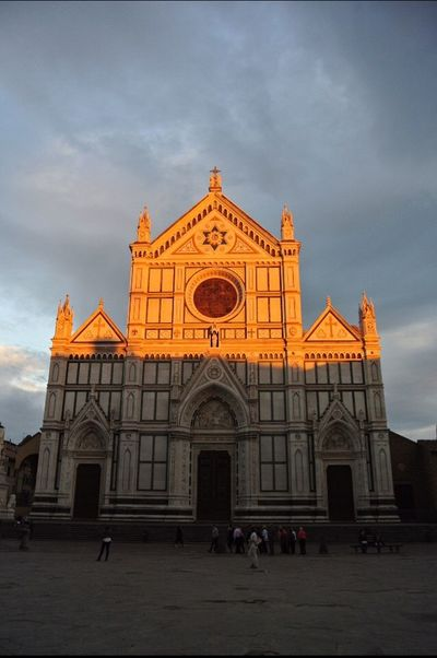 Santa Croce church in florence at the piazza Santa Croce. Architecture Sky Travel Destinations Europe Trip Solotraveler
