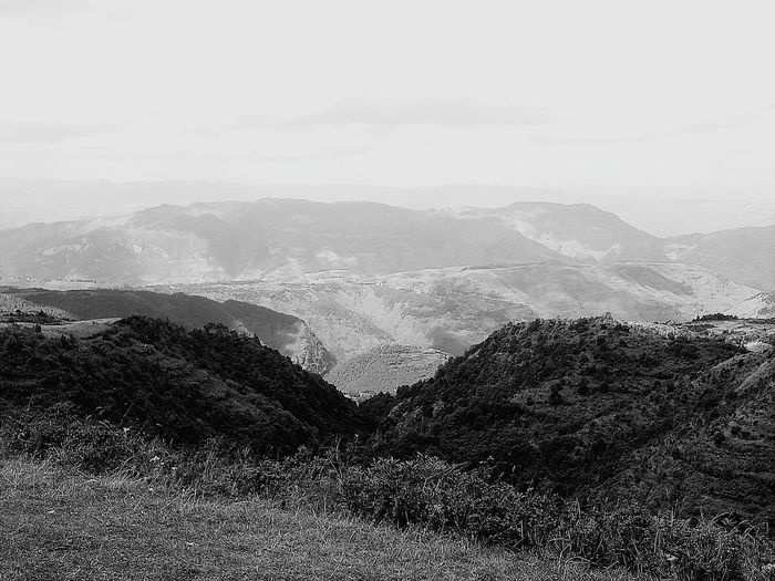 Mountain Agriculture Mountain Range Sky Landscape No People Beauty In Nature Nature Beauty In Nature Black & White Vacations Scenics Day