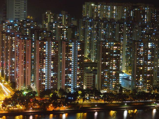 Night Lights Hong Kong Shatin