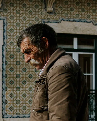 Stranger, Portugal 2018 One Person Streetphotography Real People Contemplation Side View Stranger Old Man Beard